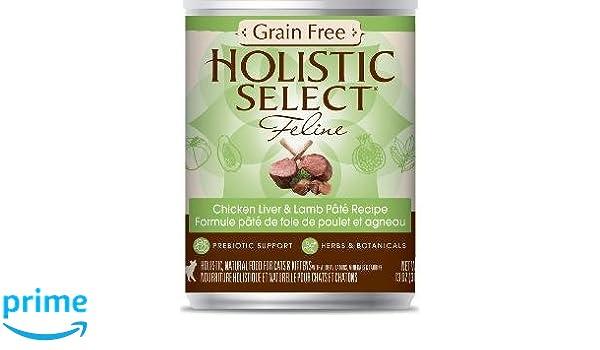 Amazon.com : Holistic Select Grain Free Chicken Liver/Lamb Cat 12/13Z Pate : Pet Supplies