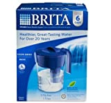 Brita Classic Pitcher, 6 Cup, Navy Blue