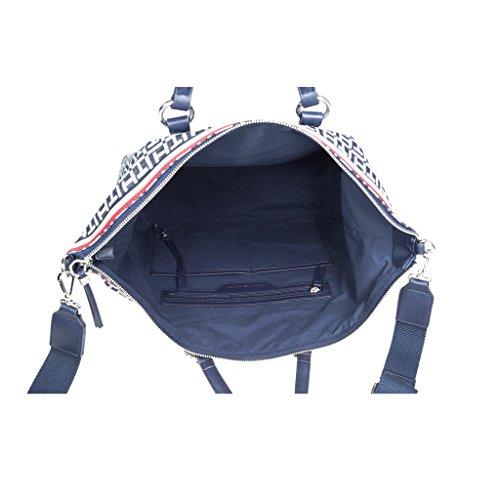 Tommy Hilfiger TH Essentials Duffle Denim Blau Damen Handtasche Umhänge Tasche Schultertasche Umhängetasche