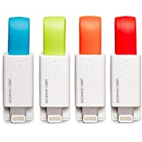 Urbo Keyring Charger with USB-A to Lightning Connector (4-Pack) for Apple devices