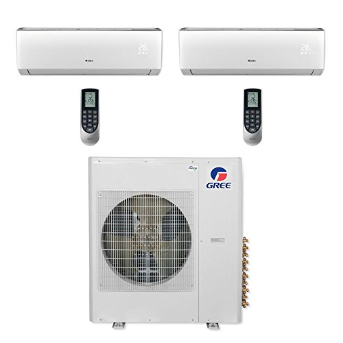 Gree MULTI36CVIR208-36,000 BTU Multi21+ Dual-Zone Wall Mount Mini Split Air Conditioner Heat Pump 208-230V (18-24)