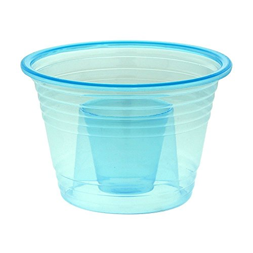 Zappy 50 Neon Blue Jager Bomb Cups Disposable Plastic Party Bomber Power Bomber Jager Bomb Cups Cool Double Shot Glass Glasses Shot Cup Cups Jager bomb glasses for mixed shots 50Ct Blue Jagerbombs by zappy