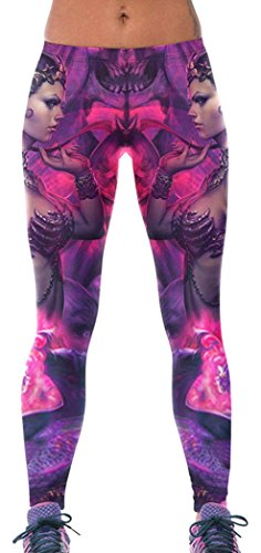 BYY Womens War Goddess High Stretch Yoga Leggings One Size