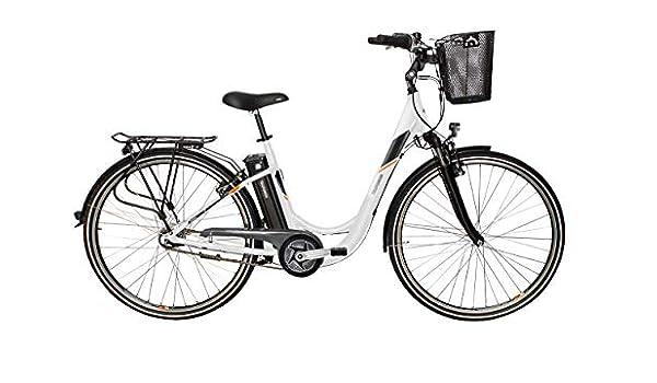 Telefunken Bicicleta eléctrica Aluminio de 28 Pulgadas con Cambio de 3 Marchas, Pedelec Citybike Ligero con Cesta para Bicicleta, Motor Central de 250 W, 10,4 Ah, 36 V: Amazon.es: Deportes y aire libre