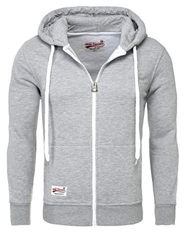 Jacket Sweater Tanaka Sweatshirt Look Gris Sweat Optik Homme Akito Contraste Veste Capuce 18110 Blouson Y4dEYqp