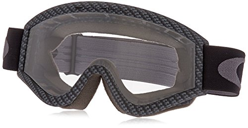 Oakley L-Frame Graphic Frame MX Goggles (Carbon Fiber/Clear Lens Glasses, One Size)