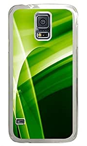 Samsung Galaxy S5 Green Abstract N005 PC Custom Samsung Galaxy S5 Case Cover Transparent