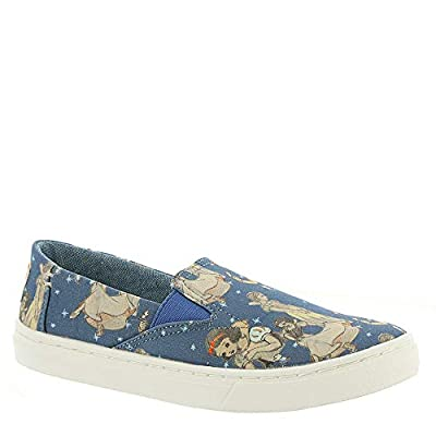 TOMS Snow White Printed Canvas Luca Youth | Blue (10012731)