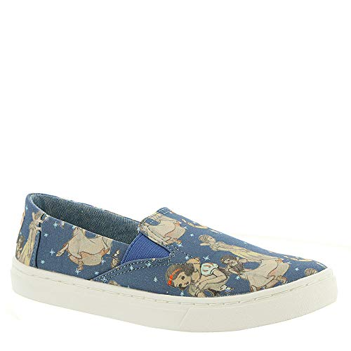 TOMS Kids Luca Blue Snow White Printed Canvas Slip-On Shoe 5 Kids US -