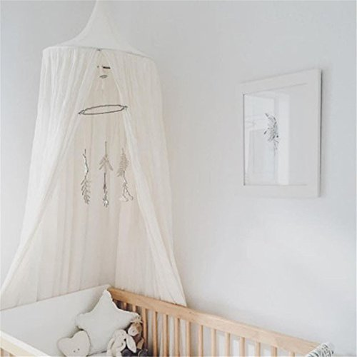 Cotton Mosquito Net Canopy Dome Princess Bed Canopy Kids Play Tent Mosquito Net Children's Room Decorate for Baby Kids Home Playing,2.4meters