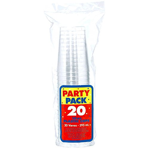 Amscan Clear Reusable Plastic Tumblers Cocktail & Drinkware & Barware Childrens Party Cups , 480 Pieces