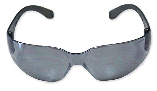 ToolUSA Gray Mirrored Polycarbonate Lens Sporty Safety Glasses: - Polycarbonate Mirrored