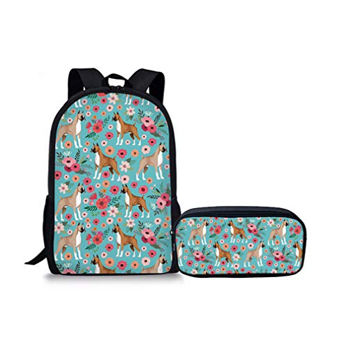 Printing Dog YQ763CK Students Bags School 2Pcs Yq763ck Set Pit Bull xS7qUq0Yw