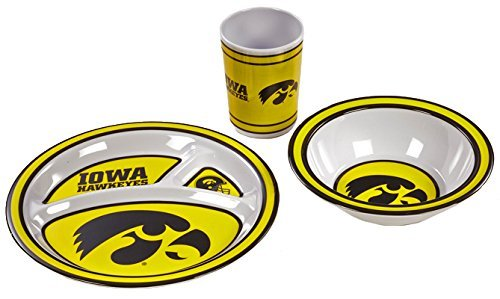BSI NCAA Iowa Hawkeyes Kid's 3-Piece Dish Set ()