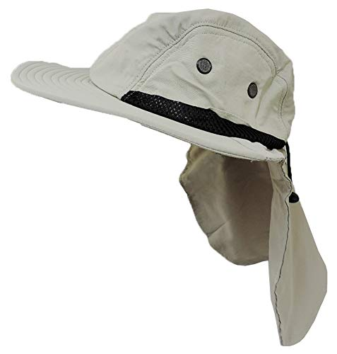 Flap Hats Stone - Stone Beige Outdoor Sun Flap Hat