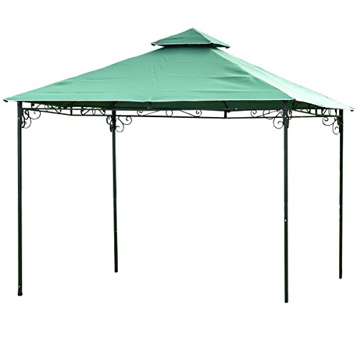 Cheap TANGKULA 2 Tier 10'x10′ Gazebo Tent Patio Outdoor Party Canopy Tent
