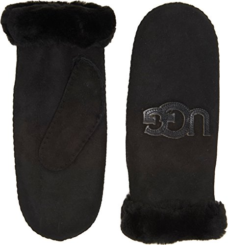 UGG Women's Heritage Logo Waterproof Sheepskin Mitten Black SM/MD by UGG