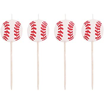 Creative Converting 4 Count Sports Fanatic Baseball Shaped Pick Candles