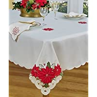 Homewear 7270-543 Poinsettia Trio Runner, Ivory