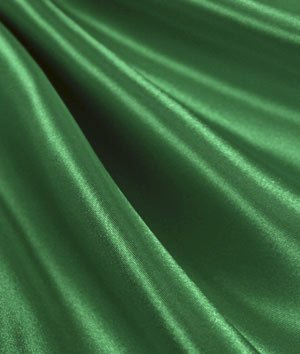 Flag Green Satin Fabric - by the Yard