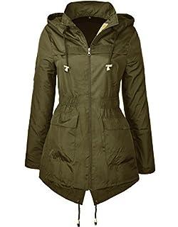 c87642508f6 MISSY New Plain Jacket Plus Size RAIN MAC Ladies Parka Womens Festival  Raincoat Size 8…