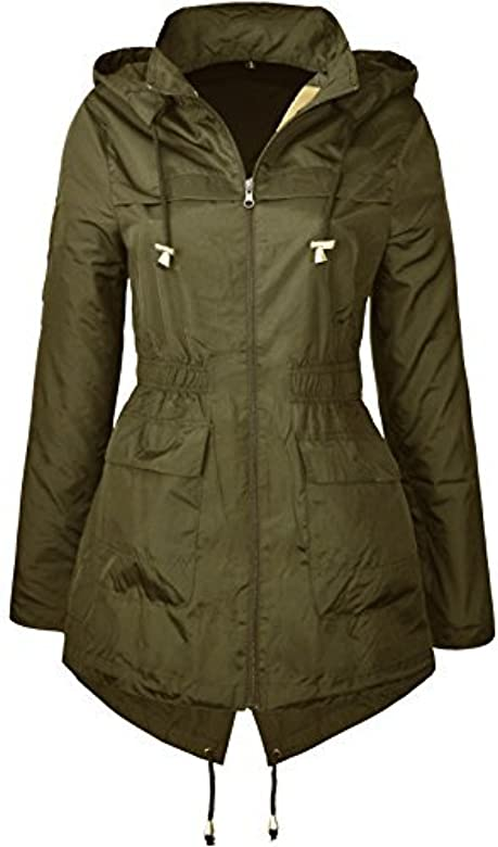 affordable price cheap prices 50% off MISSY New Plain Jacket Plus Size RAIN MAC Ladies Parka Womens ...