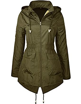 29e19a51c4b0b MISSY New Plain Jacket Plus Size RAIN MAC Ladies Parka Womens Festival Raincoat  Size 8-24 Plain Black  Amazon.co.uk  Clothing
