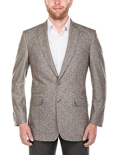 - Chama Men's Wool Blazer Elegant Two Button Single Breast Notch&Peak Lapel Coat Jacket