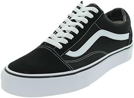 Vans Unisex Old Skool Sneakers (12 B(M) US Women / 10.5 D(M) US Men, Black/White)
