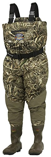 Frogg Toggs 2711856-11 Performance Hunting Grand Refuge 2.0 Breathable & Insulated Camo Chest Wader, Realtree Max-5, 11