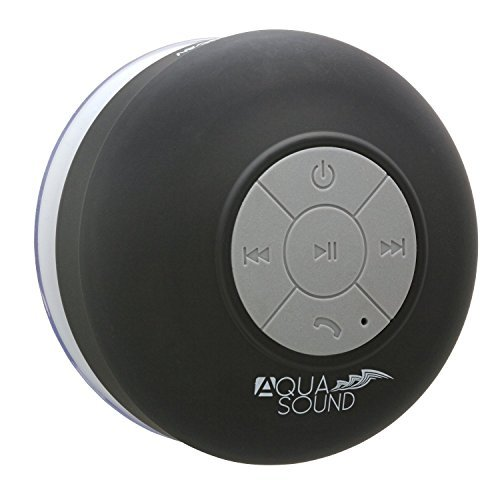 Bathroom Shower Music AquaSound WSP20 Speaker, Portable Waterproof Wireless Bluetooth Speaker Android IOS (Black)