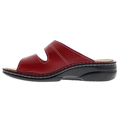 Finn Comfort Womens 2550 Sansibar Venezia Red Leather Sandals 40 EU by Finn Comfort (Image #2)
