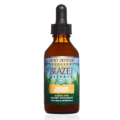 Host Defense - Blazei Mushroom Extract, Supports Immunity and Wellbeing on a Cellular Level, Non-GMO, Vegan, Organic, 60 Servings (2 Ounces)