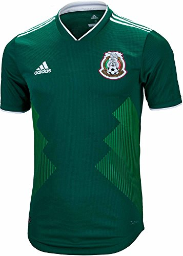 Mens Jersey Authentic Adidas Home - adidas Mexico Authentic Men's Home Soccer Jersey World Cup 2018 (2XL) Green