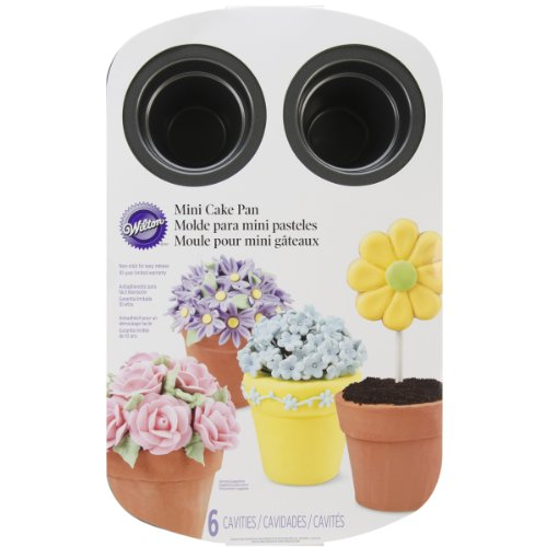 Wilton 2105-0818 Easter 6-Cavity Flower Pot Cake Pan