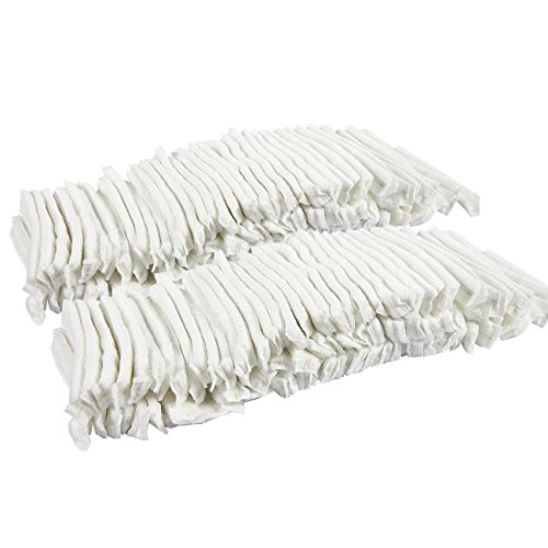 Disposable Hair Net Caps - 200 Pack - Bouffant Caps Perfect for Salons, Hotels, Spas, Medical, Catering, Food Prep | White, One Size Fits Most by Juvale