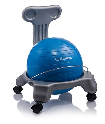Ball Chair For Children - Includes Free Air Pump. Keeps The Mind Focused While Promoting A Healthy Posture. by bintiva