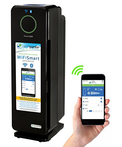 "GermGuardian CDAP4500BCA 22"" 4-in-1 WiFi Smart Air Purifier, Air Quality..."