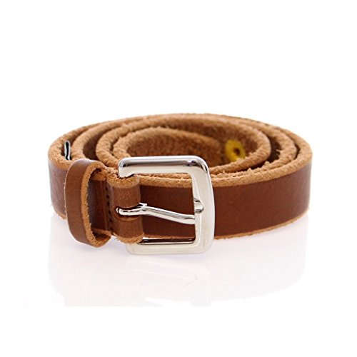 Gabbana Womens Belts (Dolce & Gabbana Brown Leather Logo Belt)