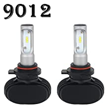 9012 LED Headlight Bulb 8000LM 6000K - 6500K Cool White All-in-One Conversion Kit LED Driving Fog Light for Replace Halogen Bulbs Headlights ,1Yr Warranty