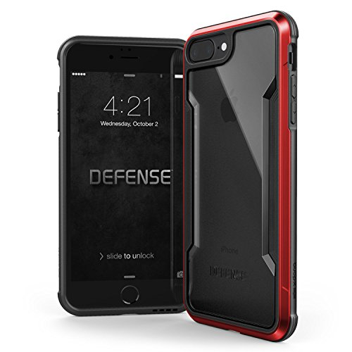 (iPhone 8 Plus & iPhone 7 Plus Case, X-Doria Defense Shield Series - Military Grade Drop Tested, Anodized Aluminum, TPU, and Polycarbonate Protective Case for Apple iPhone 8 Plus &)