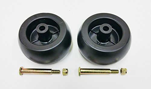 2 Deck Wheels + Shoulder Bolts, Lock Nuts For 133957 174873 532133957 532174873 Craftsman Poulan Husqvarna. MTD 734-03058, 753-04856. Murray 92683, 92265. John Deere M84690. Ariens 03471700, 03905600 ()