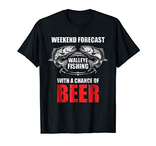 Walleye Fishing Shirts For Men Funny Fishing ()