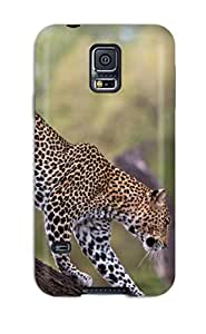 Excellent Galaxy S5 Case Tpu Cover Back Skin Protector Leopard Wallpaper