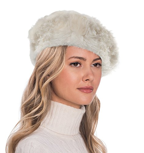 Eric Javits Luxury Fashion Designer Women's Headwear Hat - Persian Beret (Off White) by Eric Javits