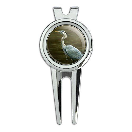 Graphics and More Great Blue Heron Golf Divot Repair Tool an
