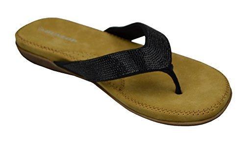 Dunlop Donna Infradito Nuovo Donna Memory Foam Sandali Infradito Slip On Sandali da Spiaggia Nero