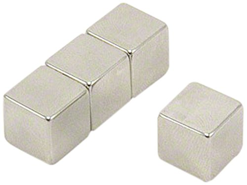 Magnet Expert/® 12 x 12 x 12mm thick N42 Neodymium Magnet 7.4kg Pull Pack of 4