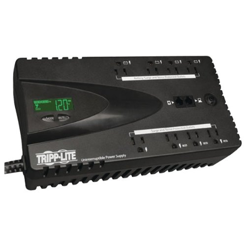 TRIPP LITE ECO650LCD ECO Series Energy-Saving Standby UPS System with USB Port, LCD Display & Outlets (650VA; 8 Outlets) by Tripp Lite