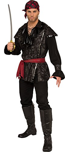 Faerynicethings Adult Size PLUNDERING Pirate Costume - XL Fits 44-46